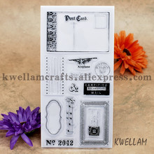Post Card Airplane CERTIFIED MAIL Scrapbook DIY photo cards account rubber stamp clear stamp transparent stamp 10x20cm KW6122516(China)