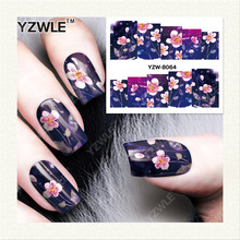 YZWLE 1 Sheet DIY Nails Art Decals Water Transfer Printing Stickers For Manicure Salon YZW-8064(China)