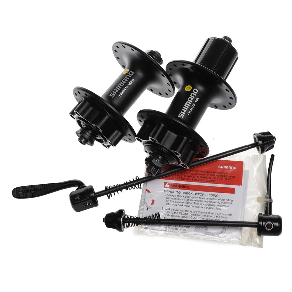 SHIMANO DEORE FH-M475 Rear Bike Hub QR 32 Hole 6 Bolt Disc Black Alloy NEW