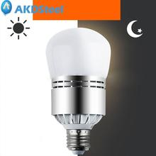 AKDSteel E27 12W 85-265V Light Sensor LED Ball Bulb 1200Lm for Stree Light Lawn Aluminum Lamp Super Bright Energy Saving(China)