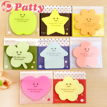 8 pcs/Lot Candy color sticky notes Star apple cloud super note Cute memo pad Office accessories supplies Patty stationery F460