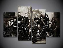 2016 Sale Rushed Fashion Unframed Printed Sons Of Anarchy Soa Samcro Painting On Canvas Room Decorae Picture Livingroom DecoH371