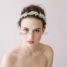 the new high-end acessorios para cabelo bridal hair band handmade beaded headdress silver rhinestone wedding SE1008
