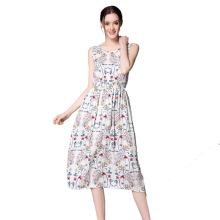 vestidos femininos 2017 New Arrival Women Summer Long Bohemia Style Dress Retro Elegant Sexy Ladies Sleeveless Split Solid dres