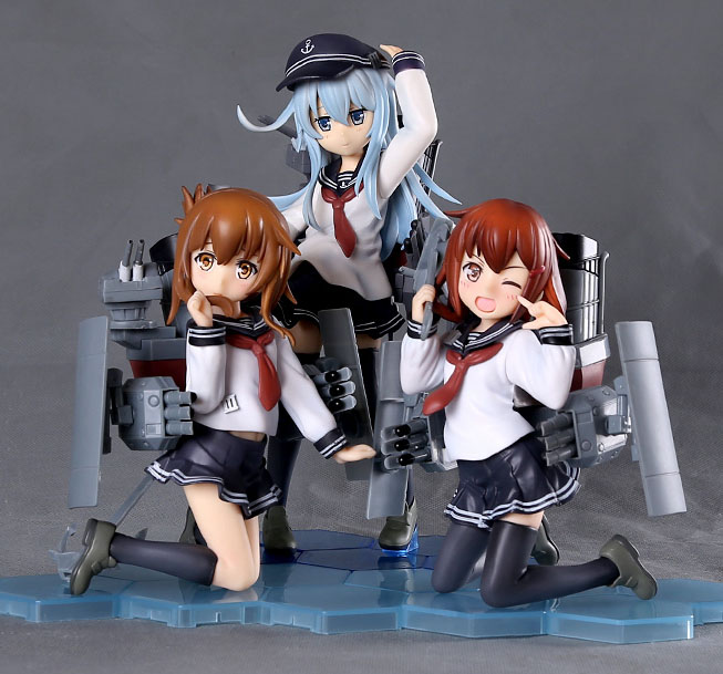 Free Shipping Cute 3pcs Anime Kantai Collection Kan Colle Ikazuchi Inazuma Hibiki Boxed PVC Action Figure Collection Model Toy<br>