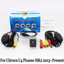 Car Parking Camera For Citroen Grand C4 Picasso MK2 2013~Present / RCA AUX Wire Or Wireless / HD Night Vision Rear View Cameras