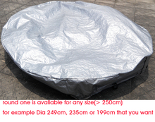 Round shape hot tub cover cap prevent snow, rain and dust,OD: 1600mm x300 mm(H) ,can customize spa, swim spa cover bag(China)