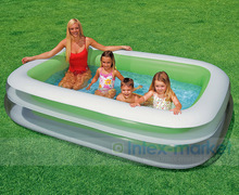 INTEX Inflatable Swimming Pool Backrest with Seat Family Swimming Pool Inflatable Pool Square Summer Baby Swimming Pool