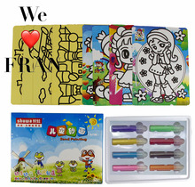 active Classic game Sand painting toy for child(China)