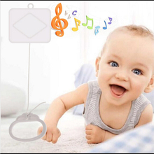 High Quality New Pull String Cord Music Box White Baby Bed Bell Kids Toy Random Songs Best Selling(China)