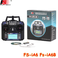 FlySky FS-i6 2.4G 6CH AFHDS RC Transmitter With FS-iA6 FS-iA6B Receiver for Airplane Heli UAV Multicopter Drone(China)