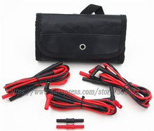 Test Leads & Test Probe Kit Fluke TL224 TL222 TL221 Test Leads Fully Insulated+Double Female Extension Adapter+Accessories case