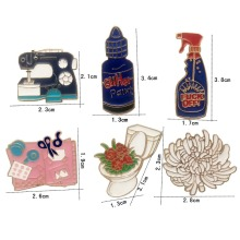 kshmir New pyramid toilet sketchpad sprayer telephone books cost drip enamel brooch creative design coat collar bags A brooch(China)