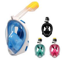 3be364ebf Natação Snorkel Máscara de Mergulho Subaquático para Mergulho Cara Cheia  Anti Nevoeiro Anti-Vazamento Praia Mar Swim Piscina Ace.