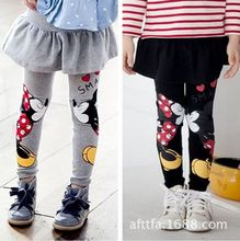 Girls legging 2017 Autumn Spring Cute Kids pants Casual Pants Baby Girls Cotton Leggings  Comfortable Dress Leggins  Girl Skirt