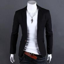 Men One Button Blazer Men Slim Fit Suit Fashion Brand Casual Mens Blazer Coat Jacket Plus Size M-3XL
