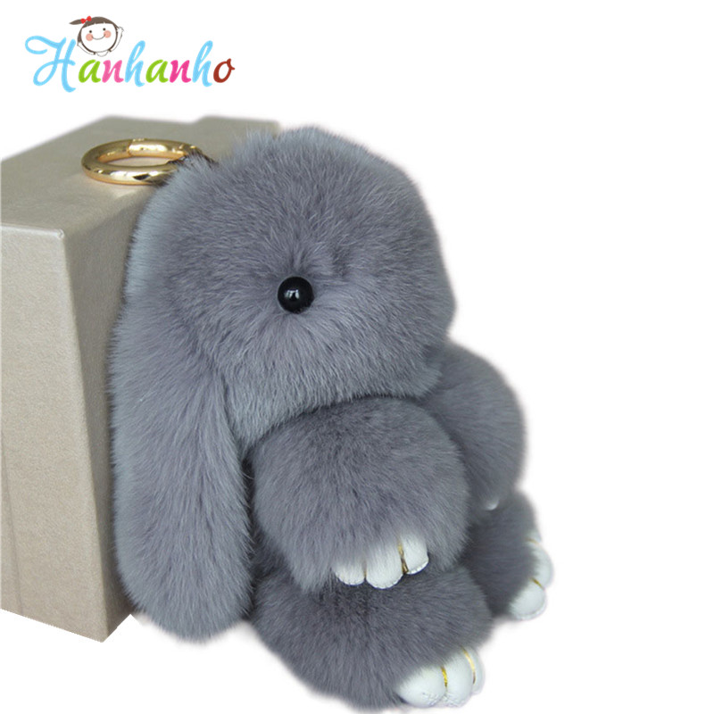 18cm Super Cute Fluffy Bunny Bag Pendant Lovely Play Dead Rabbit Animal Toy Keychain Car Decor<br><br>Aliexpress