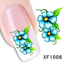 YZWLE 1Pcs Nail Art Water Sticker Nails Beauty Wraps Foil Polish Decals Temporary Tattoos Watermark(China)