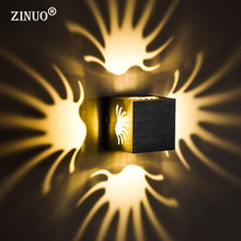 ZINUO Modern 3W Led Wall Lamp RGB With 24Key Remote Controller Sconce light Indoor Decoration For KTV Bar Restaurant AC85-265V(China)