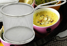 Hot Sale Kitchen Stainless Steel French Fries Basket Small Round Net Mini Cooking Tools(China)