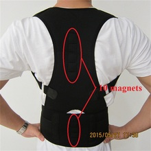 Adjustable Orthopaedic Magnetic Back Shoulder Posture Corrector Unisex Back Support Straighten Out Brace Belt Health