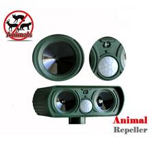 Outdoor Use Animal Repeller Cat Dog Pest Repeller Solar Power Ultra Sonic Scarer Frighten Animal Repellent(China)