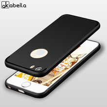 AKABEILA Case For iPhone 7 6 5 X 6S 5S 66S 55S 6C Case Silicon Cover For iPhone 7 6 Plus Cases Back Cover For iPhone SE 5G 6G 7G(China)