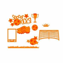 9pcs Football Set Customized Metal Cutting Dies Stencils for DIY Scrapbooking/photo album Decor Embossing Paper Card Craft Dies(China)