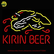 Kirin Beer Light Beer Bar Neon Sign Neon Bulbs Store Display Recreation Room Glass Tube Handcraft Light Cool neon Sign 28x20(China)