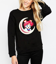 Women fashion Autumn Tops Hoodies Sailor Moon Serena Crewneck Sweatshirt the iconic Japanese anime character vibrant jumper