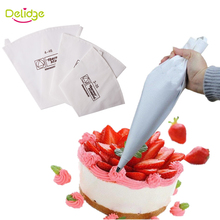 Delidge 1 pc 3 Sizes Cake Decoration Bag Cookie Icing Piping Bag Re-Useable Cotton Cloth Fondant Cake Decorating  Tips Tool