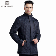 CITY CLASS NEW Mens Autumn Jackets And Coats Business Leisure Slim Fit Stand Collar Cotton Clothing Plus Size Quilted 14019(China)