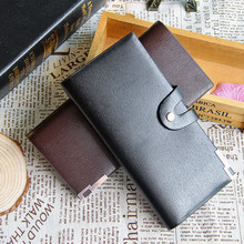2017 Very Stylish and Super good quality Men Leather Bifold Card Checkbook Holder Long Wallet Organizer Purse gift wholesale