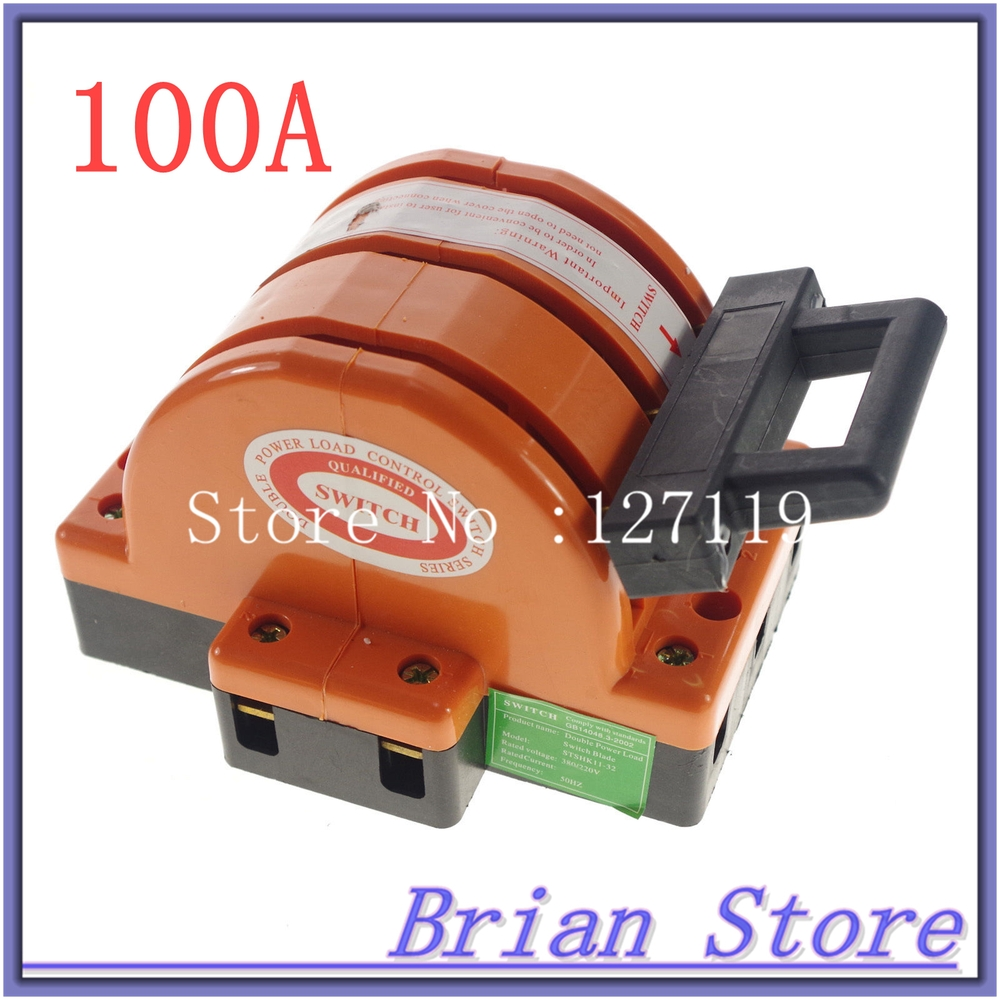 Heavy Duty 3Poles Double Throw 3PDT 100A Electric Safety Knife Blade Disconnect Switches<br>