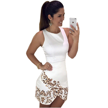 Buy Womens New Printed Bodycon Dress Women Summer Casual Party Work Dresses Women Clothing Sexy Elegant Pencil Dresses for $8.70 in AliExpress store