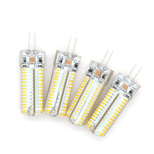 1pcs CE&RoHs G4 LED Corn Bulb 220V 110V AC DC 12V 3014 SMD Candle Replace Halogen lamp Chandelier Light 24 32 48 64 104LEDs