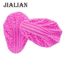 Cake pop recipe Chinese Cabbage Texture leaves leaf Flowers Silicone Mold Fondant decorating tools Kitchenware Bakeware T0817