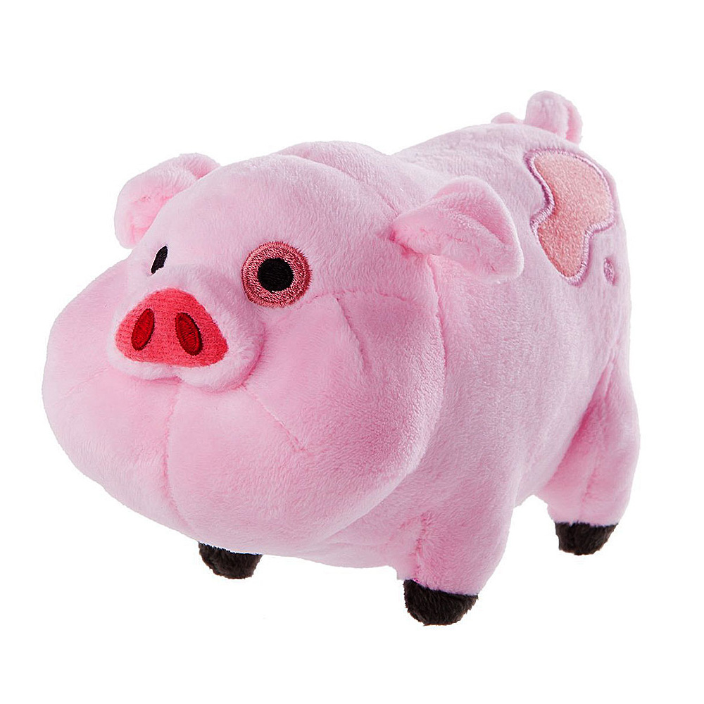 1pcs 16cm Gravity Falls Pink Pig Waddles Plush Toy stuffed animals lovely fat pink pig Best Christmas Gifts Children