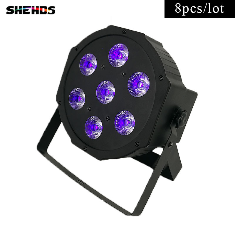 8pcs/lot LED Flat Par 7x3W Ultraviolet Color Stage Light Business Lights High Power with Professional for Party KTV Disco DJ<br>