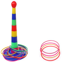 Indoor Outdoor Colorful Hoopla Piling Ring Separable Throw circle for Children Kid Sport Toy Free shipping GYH