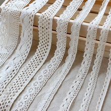 10 Yard/lot  Beige cotton lace fabric handmade diy accessories lace sofa curtain  laciness trim materials