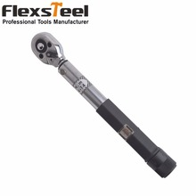"Flexsteel 1/4""DR. 4-14N.m Manual Torque Wrench Torque Spanner Ratchet Wrench For Repairing Bicycle Packed in Plastic Storage Box"