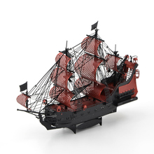 Metal 3D assembly model Caribbean Queen Anne's Revenge Pirate Ship Model Color version Assembly model