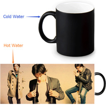 Ian Joseph Somerhalder Magic Mug Custom Photo Heat Color Changing Morph Mug 350ml/12oz Coffee Mug Beer Milk Mug Halloween Gift