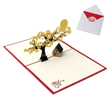 3D Gift Card Greeting Card Handmade Happy Birthday Merry Christmas Card Pop Up H06(China)
