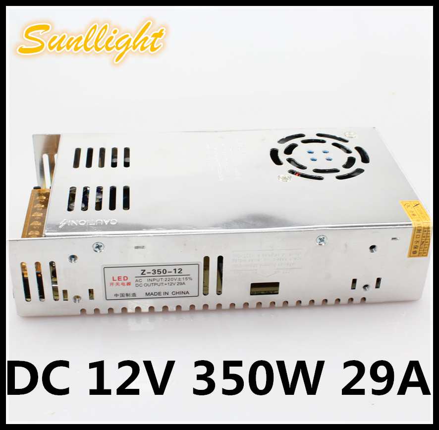 Voltage stabilization high quality driver Power Supply DC12V 350W 29A to AC220V 50~60HZ lighting transformer insulation aluminum<br><br>Aliexpress