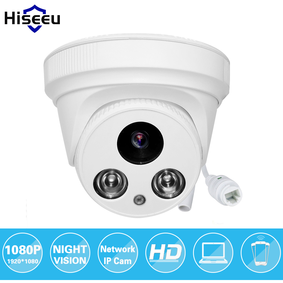 Hiseeu 1080P 2.0MP CCTV IP Camera Family Mini Dome Security ONVIF 2.0 indoor IR CUT Night Vision P2P Remote Freeshiping HCR6<br>