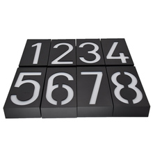 Solar Lamp 6 LED Light Sign House Hotel Door Address Plaque Number Digits Plate CLH@8(China)