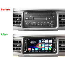 Universa Radio 2 Din RAM 2GB Android 7.1 Tablet PC Car DVD GPS For Toyota Old Corolla Camry Prado RAV4 Multimedia Player(China)