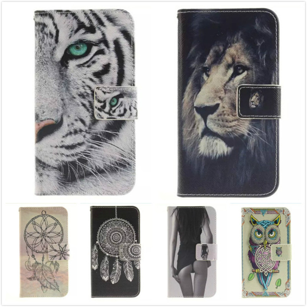 For Apple iPhone 7 Plus Leather Phone Cases for iPhone 7Plus Coque Luxury Sexy Girl Tiger Owl Flip Stand Wallet Case Soft Cover